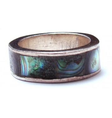 Paua Shell in Zilver Ring