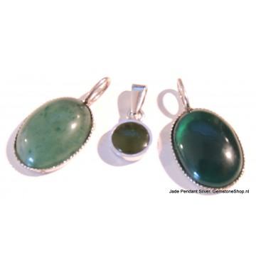 Jade in Zilver hanger(s)