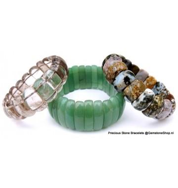 Elastisch Geslepen Edelsteen Armband