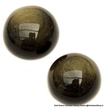 Obsidiaan goud plat