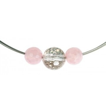 Rose quarz, Bead faceted, 20mm