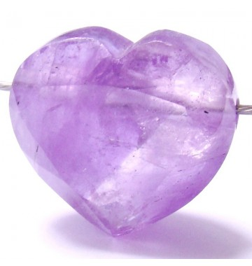Heart Amethyst faceted