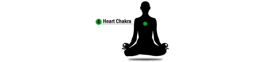 Natural healing stones for the heart chakra