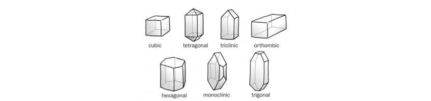 edelstenen zoeken op kristalstelsel